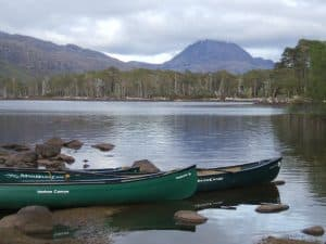 Exploring Loch maree by canoe