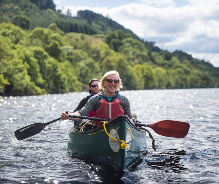 Canoeing on loch ness