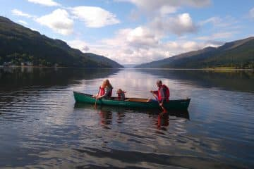 Guided canoe trip Loch Long, Scotland