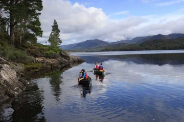 Canoeing in the west highlands