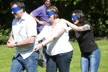 blindfold team challenges