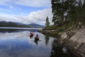 canoeing west highlands of scotland