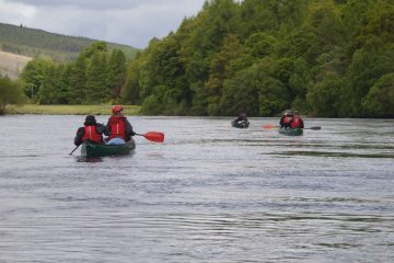 canoeing on the river spey