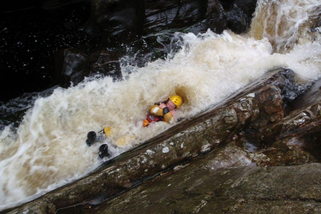 Gorge swimming - whitewater chute