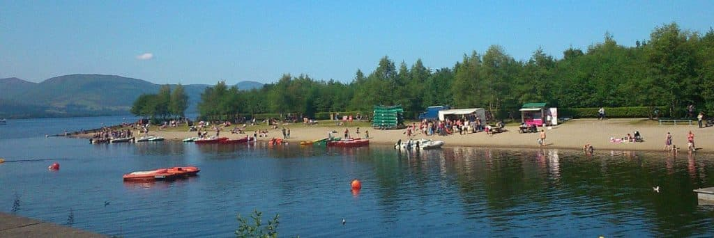 BEach at Loch Lomond Shores