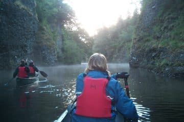 canoeing in the aigas gorge