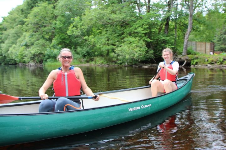 guided canoe trip loch lomond and it's islands