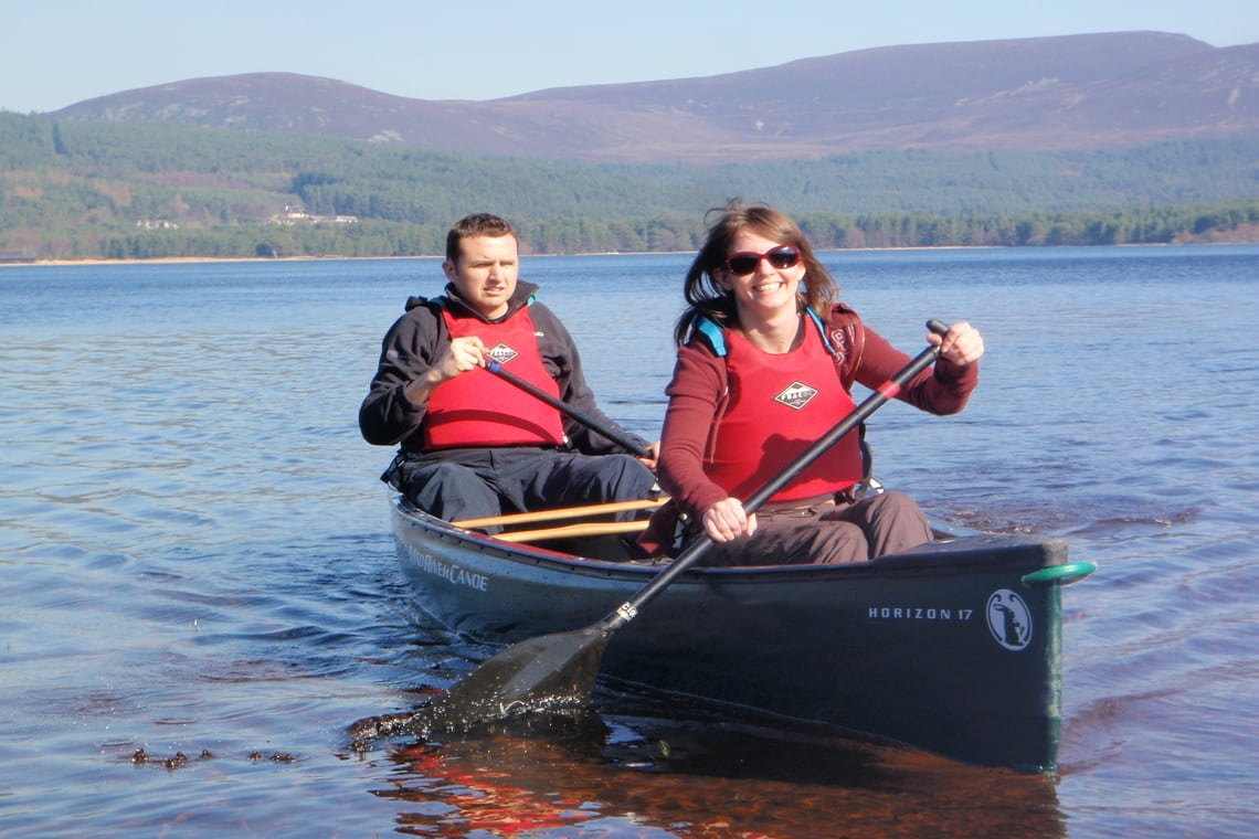canoeing and exploring Loch Lomond islands, Scotland