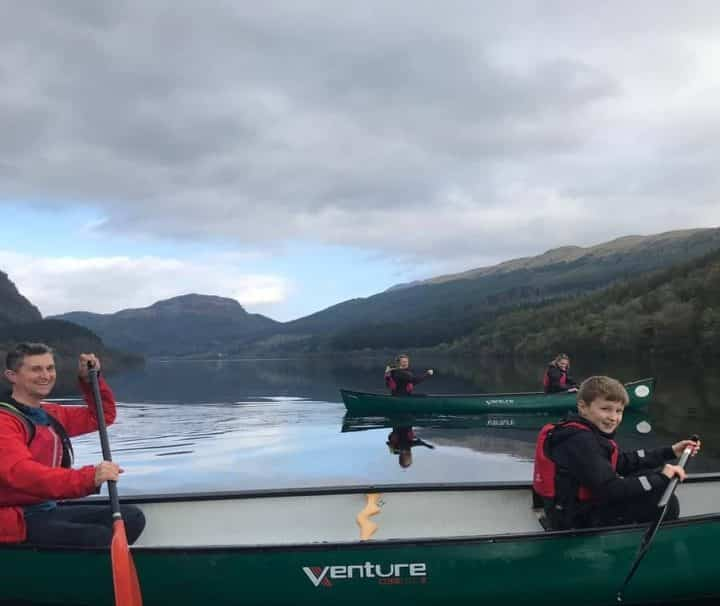 Guided canoe trip Loch Lubnaig, Scotland