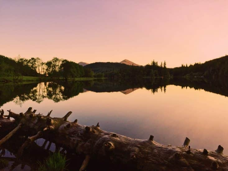 Sunset at Loch Oich