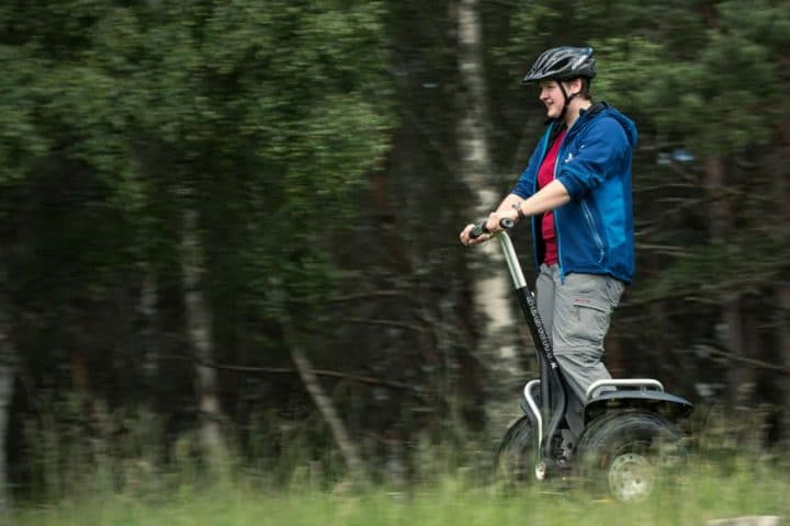 Off road segway in forest